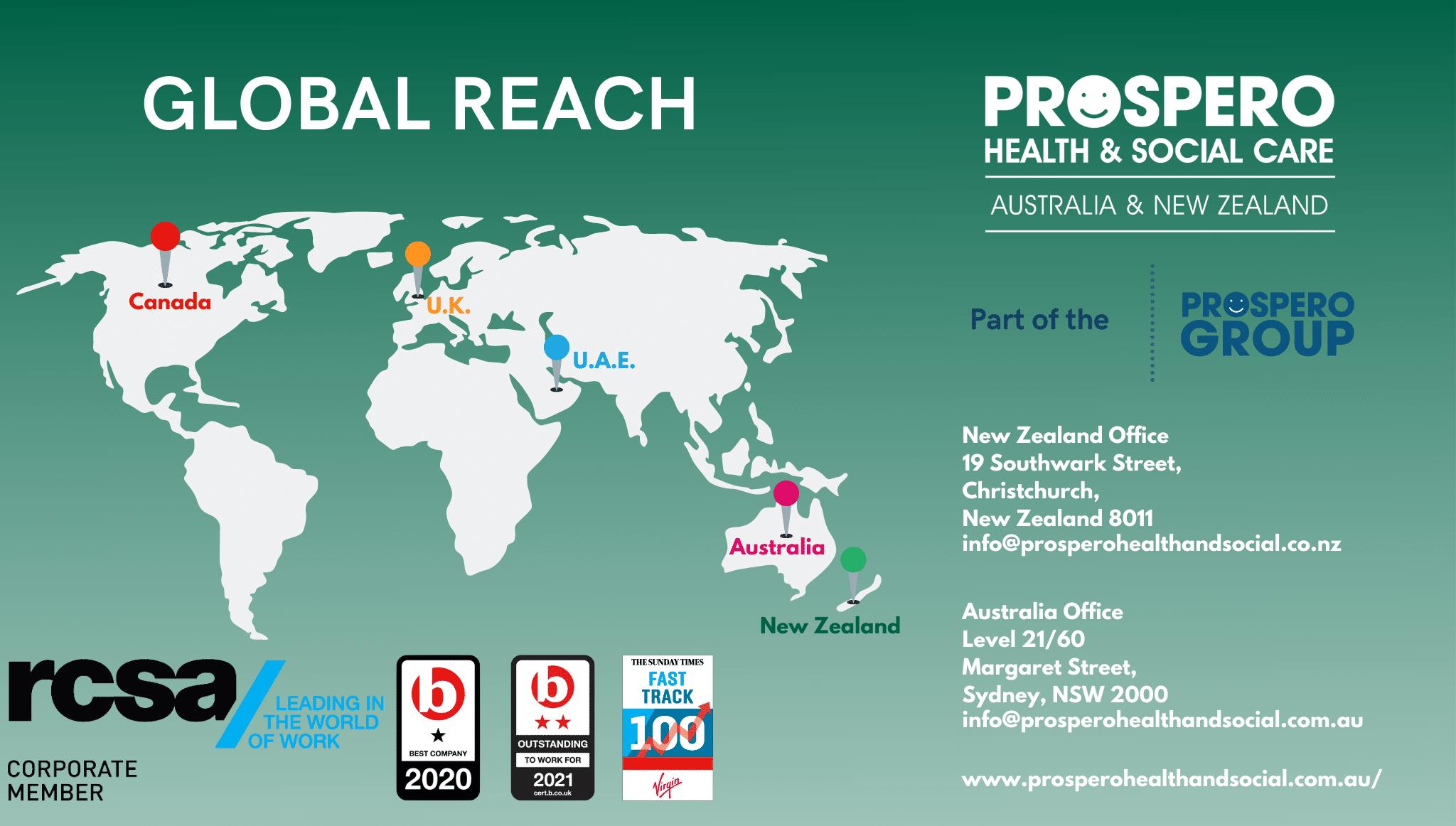 Global reach AUS NZ